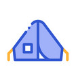 camping tent alpinism sport equipment icon vector image vector image