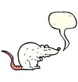 cartoon rat with speech bubble vector image vector image