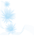 chamomile blue white vector image vector image