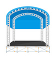 color flat design sectional concert metal stage vector image vector image