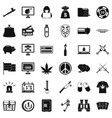 criminal offence icons set simple style vector image vector image