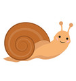 cute snail icon flat or cartoon style isolated on vector image vector image