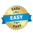 Easy round isolated gold badge