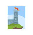 fantasy castle on edge of cliff medieval castle vector image vector image