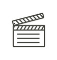 film clap icon line movie symbol vector image vector image