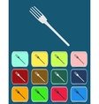 Fork emblem - icon isolated vector image vector image