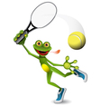 frog tennis player vector image