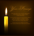 funeral card with single 3d realistic vector image