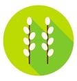 Garden Buds Circle Icon vector image vector image