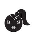 girl emoji black concept icon girl emoji vector image