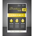 Gold business brochure or offer flyer design vector image