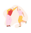 grandfather and grandmother dancing together vector image