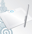 graphic tablet to draw on the computer vector image vector image