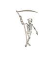 Grim Reaper Skeleton Standing vector image vector image