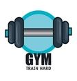 gym training hard barbell design vector image