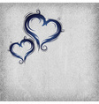 heart baroque blue background vector image vector image