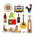 historical symbols portugal lissabon vector image