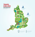 Infographic travel and landmark England vector image vector image