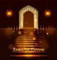 islamic door mosque cover ramadan vector image