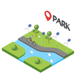 isometric of park vector image vector image