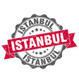 istanbul round ribbon seal vector image vector image