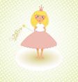 Little Princess Congratulations Card vector image