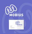 m monogram mobius logo identity vector image vector image