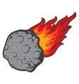 meteorite vector image
