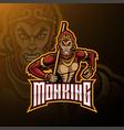 monkey king mascot logo design vector image vector image
