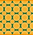 orange fruit pattern yellow and green vector image
