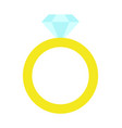 princess party golden ring vector image vector image