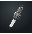 realistic spark plug part of the engine motor vector image
