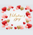 saint valentines day greeting card vector image vector image