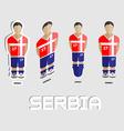 Serbia Soccer Team Sportswear Template vector image vector image