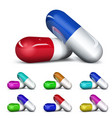 Set of capsules vector image