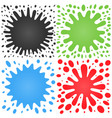set of four splashes with lots of small splashes vector image vector image