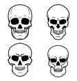 set of skull on white background design element vector image vector image