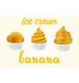 set of yellow ice cream with of different shapes vector image vector image