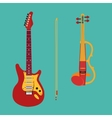 set string instruments electric violin vector image vector image