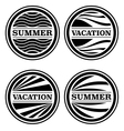 Summer and Vacation Badges vector image