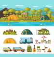 summer outdoor recreation concept vector image vector image