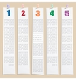 Template with numbers and columns vector image vector image