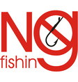 The Fishing Ban vector image vector image