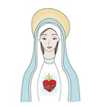 The Heart of Virgin Mary vector image
