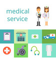 the hospital concept doctor and nurse vector image vector image