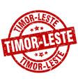 timor-leste red round grunge stamp vector image vector image