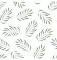 tropical seamless pattern with fern palma leaves vector image