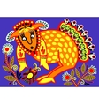 ukrainian tribal ethnic painting unusual animal vector image vector image