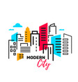 urban landscape with building and skyscraper on vector image
