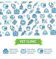 veterinary clinic signs banner horizontal vector image vector image